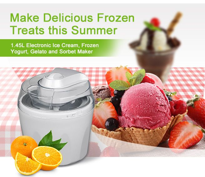 maxkon ice cream maker instructions