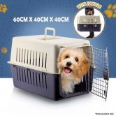 Portable Dog/Cat Pet Carrier Travel Cage with Front Door - 60 x 40cm