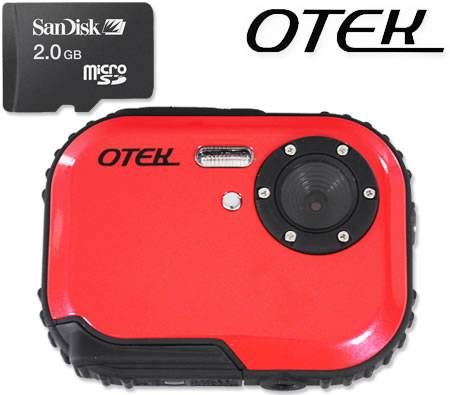 Otek Water/Dust/Freeze Proof and Shock Resistant Camera -Red