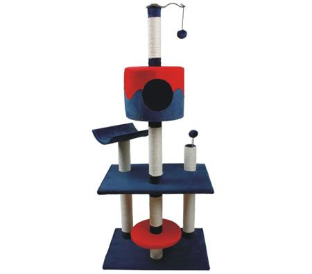 Cat Tree 139cm Scratching Post Condo Gym Play Center with Toy Balls -  5 Levels