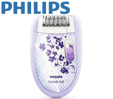 Philips Satinelle Soft Epilator - White/Purple
