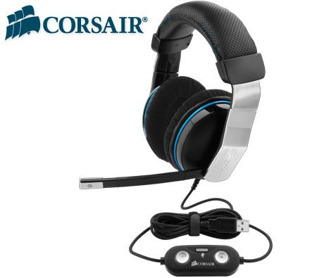 Corsair Vengeance Gaming Headset Headphone - 1500 Dolby 7.1 USB, 3D Audio, 50mm driver, Noise-Cancelling, Extra-Deep Memory Foam Earpads,Volume Control