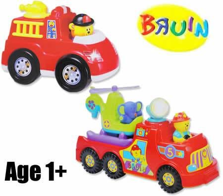 Bruin Shakin' Rescue Fire Truck & Fire Engine  Toy Mega Pack