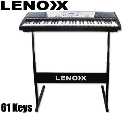 61 Large Keys Electronic Keyboard - Teaching Type with Height Adjustable Keyboard Stand