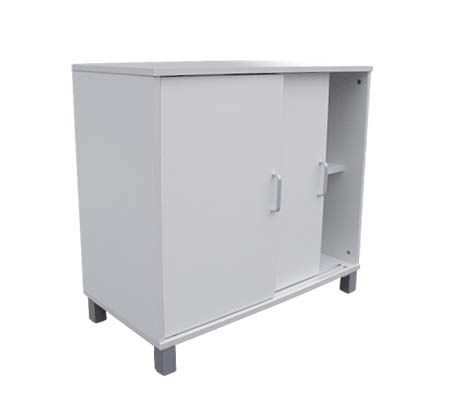 Pleasing Office Storage Cabinet With Sliding Doors Wooden White Best Image Libraries Weasiibadanjobscom