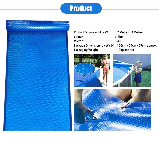 400 Micron Solar Outdoor Swimming Pool Cover Blanket 7m X4m Crazy Sales