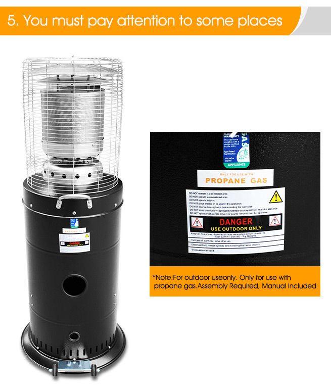 Steel Powder Coated Gas Outdoor Patio Heater Bestdeals Co Nz