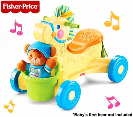 Fisher-Price Brilliant Basics Pull-Along Musical Pony