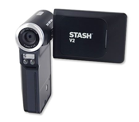 Stash 720p 8MP High Definition HD PocketDV V2 Portable Handheld Digital Camcorder