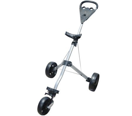 Foldable Golf Caddy Trolley - 3 Wheel Design & 2 Step Folding