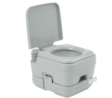 Portable Toilet - Camping Potty Restroom - 10L Square Light Gray ...