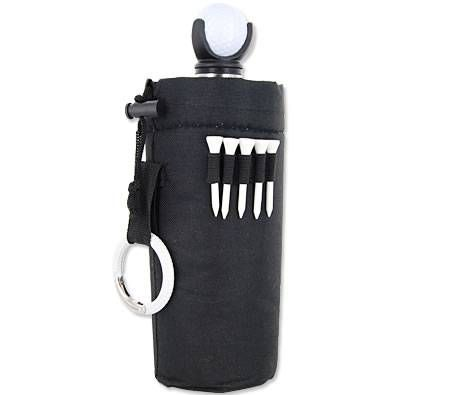Stainless Steel Bottle & Carry Bag with Golf Ball & Tees Set - 750ml