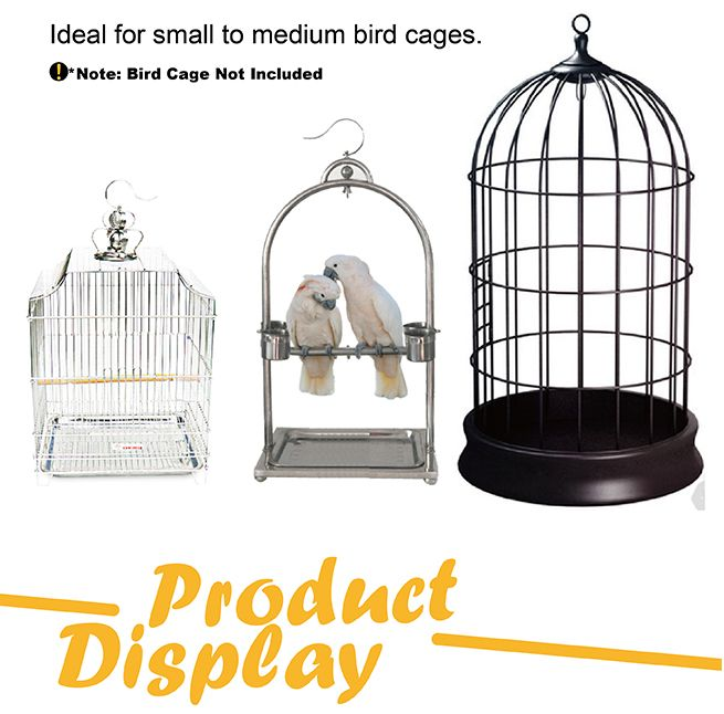 Bird Cage Hanger Stand - Black Iron Tube Frame 162cm in Height