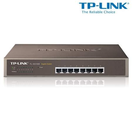 TP-Link Gigabit Switch - 8-Port Desktop / Metal Rack Mount with Auto MDI/MDI-X