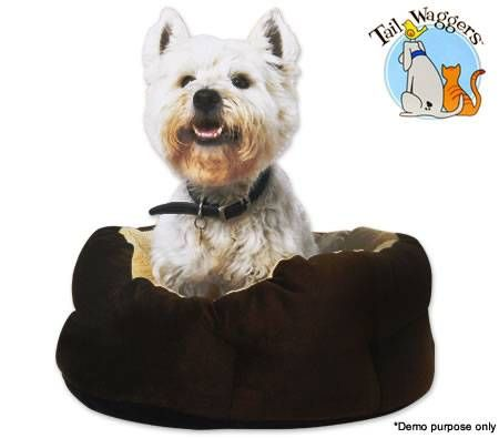 Heated Pet Bed - Round Circle Shaped With Walls - 60cm Diameter Approx