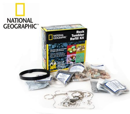 National Geographic Rock Tumbler Refill Craft Kit for 10+