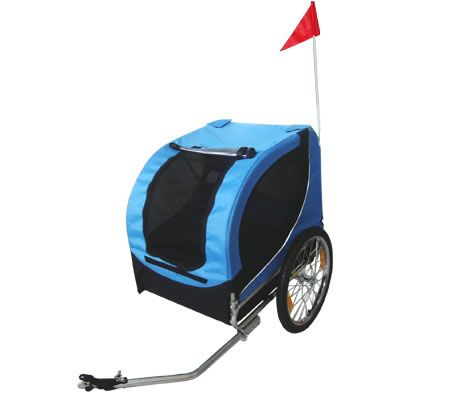 Bike Pet Trailer for Bicycles - Blue