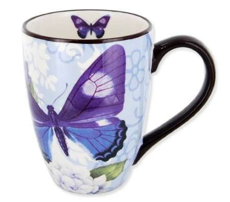 Living Art Coffee Mug Cup - Designed in Australia - Papillon Blue