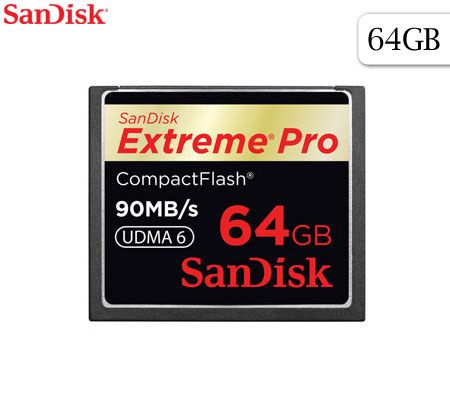 FREE SHIPPING! Sandisk 64GB Extreme Pro Compact Flash CF Card Hi-Speed 600X 90MB/s UDMA