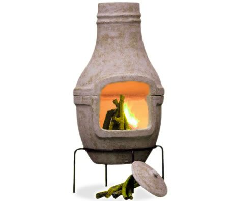 Chiminea With Grill Rack Stand Outdoor Bbq Fireplace 85cm Tall Crazy Sales