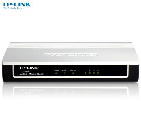 TP-LINK TD-8840T 4 Ethernet Ports ADSL2+ Router with Bridge and NAT Router