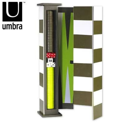 Umbra Board Game Set - 3 in 1 Chess, Checkers & Backgammon Triple Play
