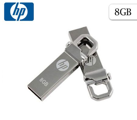 FREE SHIPPING! HP v250w 8GB 8G USB Flash Pen Drive Disk Memory Clip Hook Keychain Metal