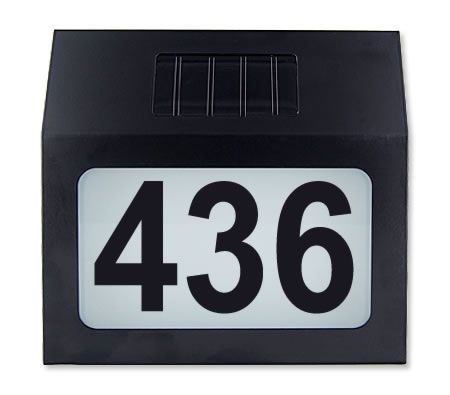 solar light house number address home plaques crazy sales. Black Bedroom Furniture Sets. Home Design Ideas