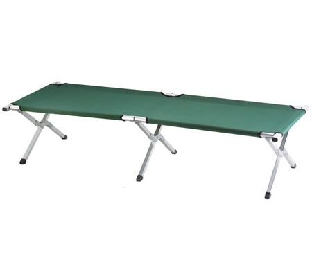 Camping Bed - Foldable with Carry Bag - 190cm x 64cm - Green