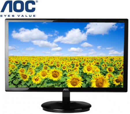 "AOC e2350Sd 23"" Full HD LED Monitor - Black, 1920x1080, 20,000,000:1 Contrast (DCR), 5 ms, DVI+VGA, VESA"