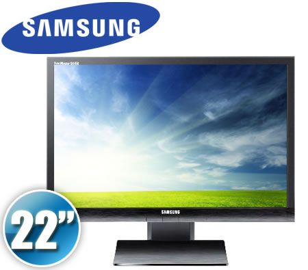 "Samsung 22"" S22A450 Widescreen LED Monitor - Rose Black, HD 1680x1050p, DVI, 5ms Response, 50,000:1 Contrast (DCR)"