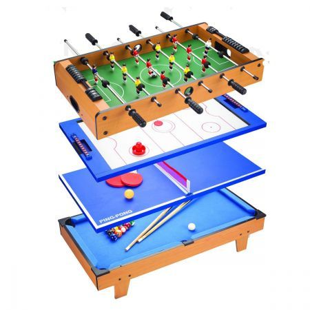 4-in-1 Table Tennis / Air Hockey / Pool / Foosball / Table Soccer Games Table