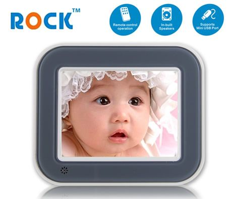 "Rock 5"" TFT LCD Digital Photo Frame with SD/MMC/MS Slots Light Gray"