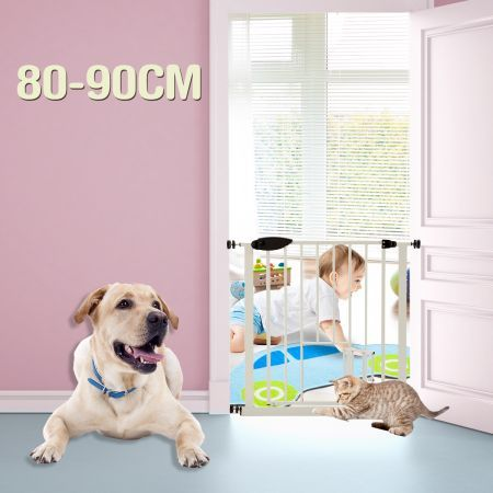 Pet Barrier Gate with Cat Door 80cm - 90cm