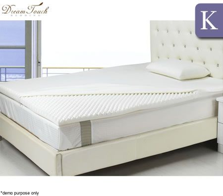 dreamtouch memory foam mattress topper egg crate king size crazy sales. Black Bedroom Furniture Sets. Home Design Ideas
