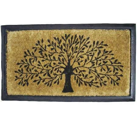Solemate Tree Of Life Coir Front Door Mat With Rubber