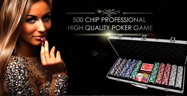 500 Holographic Chip Professional Poker Game Set