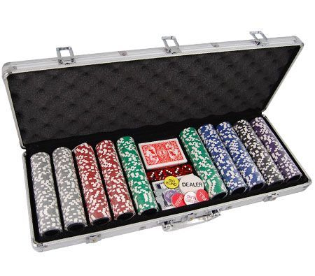 500 Professional Chip Poker Game Set with Aluminium Case
