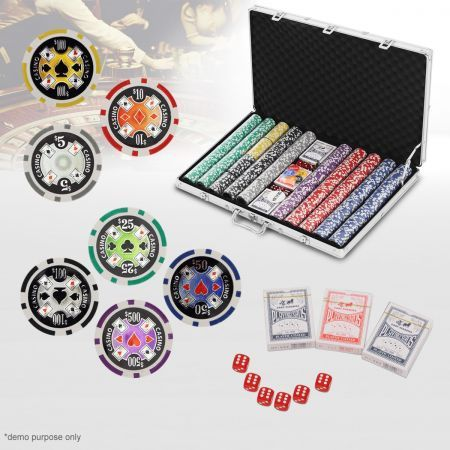1000 Chip Professional High Quality Poker Game Set in Aluminium Case