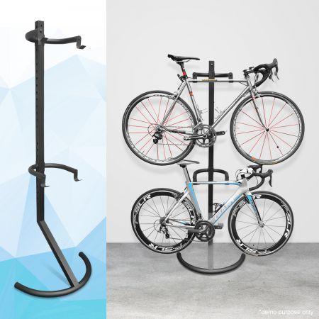 Gravity Bike Storage Rack Carries Two Bikes