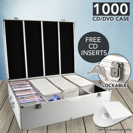 disc aluminum cddvd storage box case