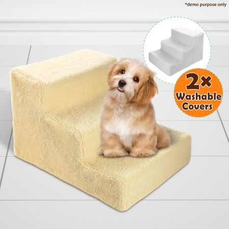 Dog Steps Deluxe with Two Washable Covers 3 Steps