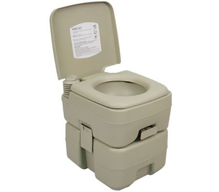 20l Adult Size Portable Toilet With Flush For Camping
