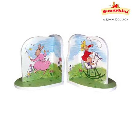 Bunnykins By Royal Doulton Wooden Bookend Set of 2 for Children