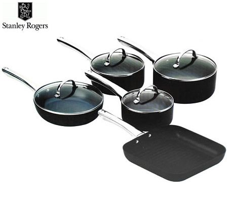 Stanley Rogers Techtonic Hard Anodised 5 Piece Cookware Set