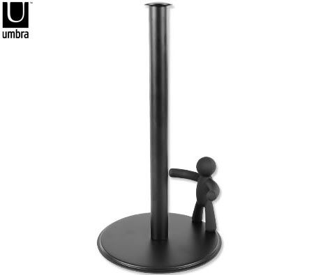 umbra buddy paper towel holder black crazy sales. Black Bedroom Furniture Sets. Home Design Ideas