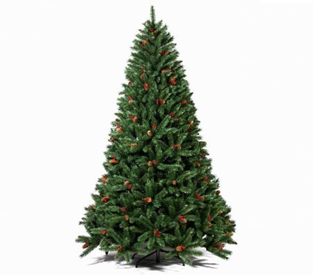 180cm Artificial Christmas Tree with Pine Cones and ...