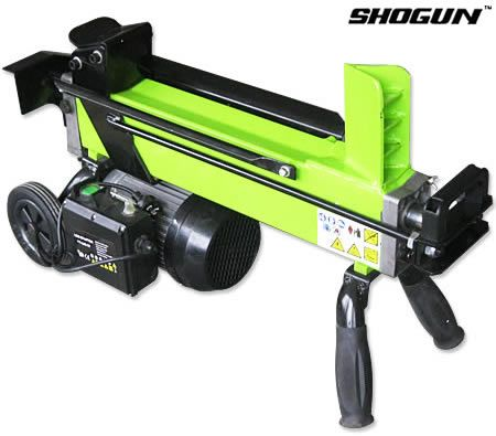 Shogun Hydraulic Powered 1500W Log Splitter - 6 Tonne Splitting Force - Green