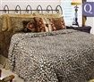 Shangri-La Linen Faux Fur Queen Quilt Cover Set - Leopard
