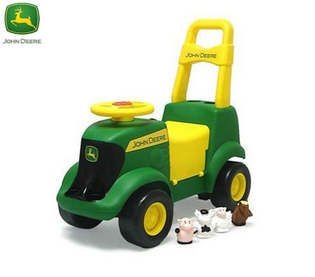 John Deere Kids 3 In 1 Sit N Scoot Tractor Ride On With Sounds
